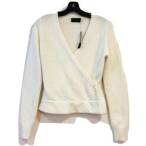 NWT The Limited Cream Wrap Pearl Sweater